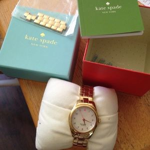 Kate Spade Gold Watch Colorfully Water Resistant
